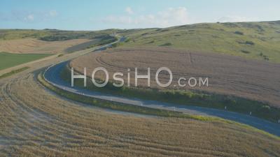 Cap Blanc Nez Curvy Voirie Et Hills, Vidéo Drone