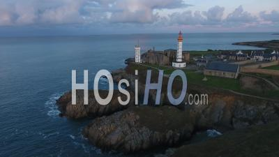 Lighthouse On Saint-Mathieu Punta - Video Drone Footage