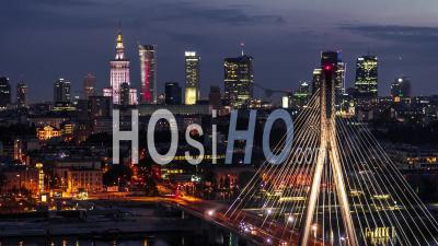 Varsovie Skyline, Varsovie, Vidéo Drone