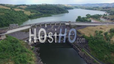 Villerest Dam, Vu Par Drone