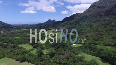 Koolau Golf Club, Mountains, Oahu, Hawaii - Drone Point Of View