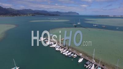 Kaneohe Yacht Club, Kaneohe Bay, Hawaii - Video Drone Footage