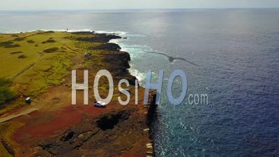South Point, Kau Coast, Big Island Of Hawaii - Video Drone Footage