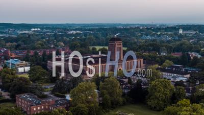 Cambridge University Library, Cambridge Seen By Drone