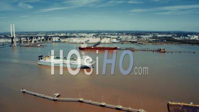 Dartford Crossing And Qeii Bridge - Video Drone Footage