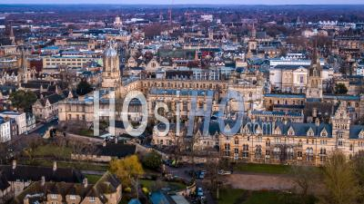 Christ Church Cathedral Et Oxford University, Oxford- Vidéo Drone