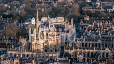 Caméra Radcliffe, Eglise Universitaire De St Mary The Virgin, Oxford- Vidéo Drone