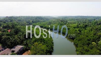 Bentota Ganga River, Sri Lanka - Video Drone Footage