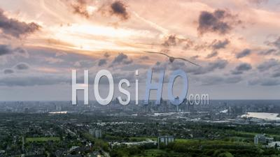 London Skyline, Vu D'east London Par Drone