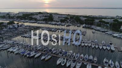 Port Camargue Viewed From A Drone